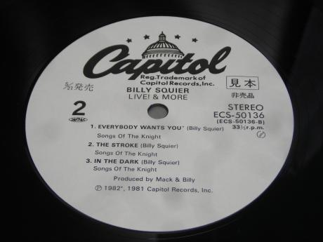 Backwood Records : Billy Squier Live & More Japan ONLY 5